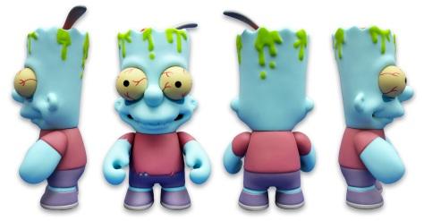 Kidrobot's Zombie Bart, all sides