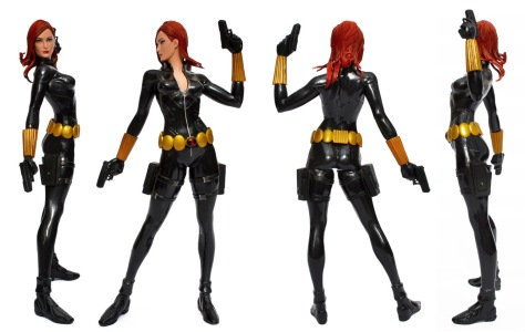 Kotobukiya's Marvel Now! Black Widow ARTFX+ statue, all sides