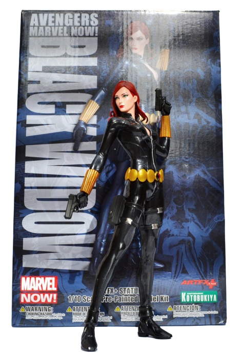 Kotobukiya's Marvel Now! Black Widow ARTFX+ statue, with box