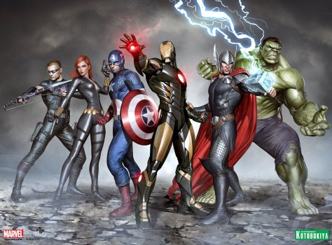 Marvel Now! The Avengers. Original artwork by Adi Granov