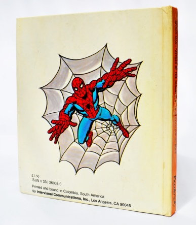 Piccolo Spider-Man pop-up book 'Attack of The Tarantula', back cover