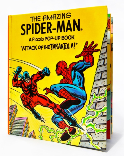 Piccolo Spider-Man pop-up book 'Attack of The Tarantula', front cover