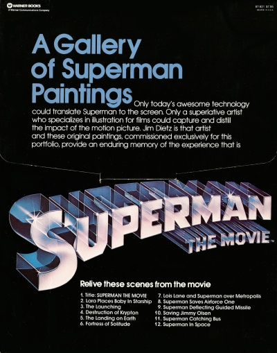 Superman The Movie Portfolio, back cover