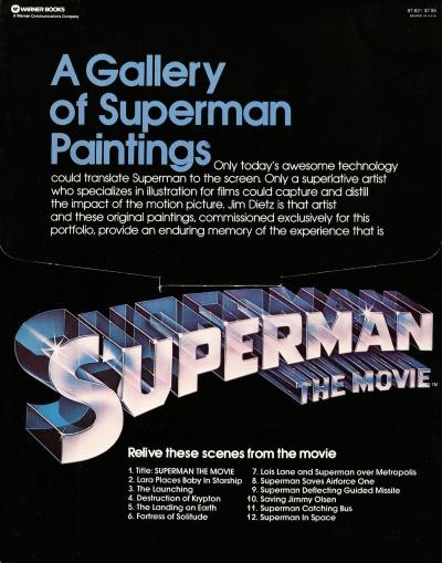 Superman The Movie Portfolio, back cover
