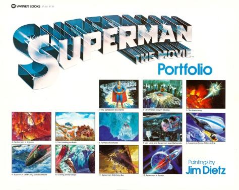 Superman The Movie Portfolio, title page