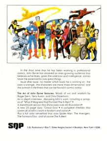 The Art of John Byrne, back cover