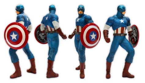 Kotobukiya, Marvel Now!, Captain America, ARTFX+ statue, all sides