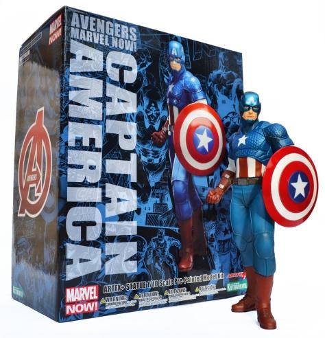 Kotobukiya, Marvel Now!, Captain America, ARTFX+ statue with box