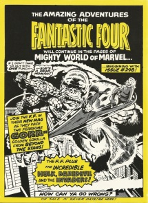 The Complete Fantastic Four, issue #37, back cover