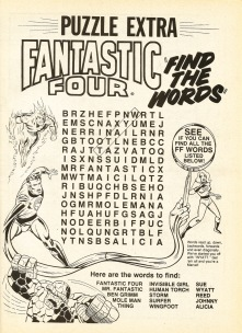 The Complete Fantastic Four, issue #4, puzzle page