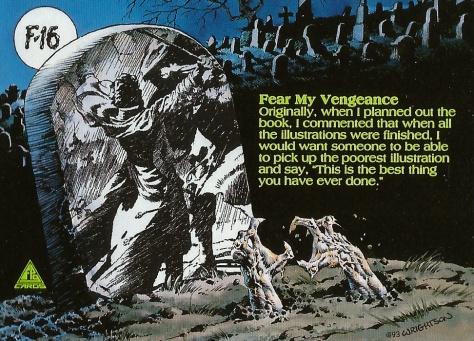 Bernie Wrightson's Frankenstein Trading Cards #16, back