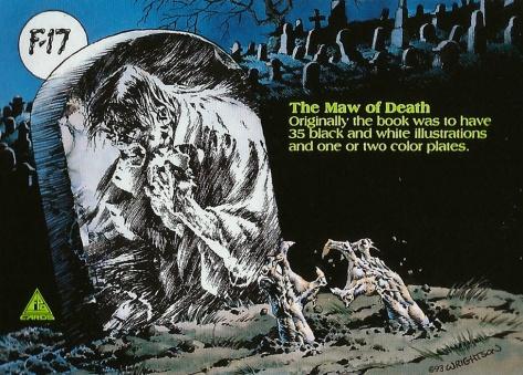 Bernie Wrightson's Frankenstein Trading Cards #17, back