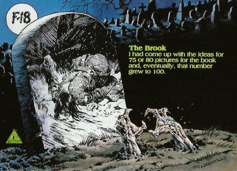 Bernie Wrightson's Frankenstein Trading Cards #18, back
