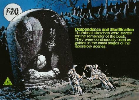 Bernie Wrightson's Frankenstein Trading Cards #20, back