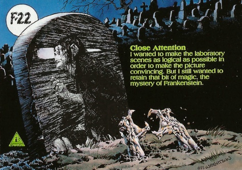 Bernie Wrightson's Frankenstein Trading Cards #22, back