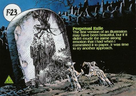 Bernie Wrightson's Frankenstein Trading Cards #23, back