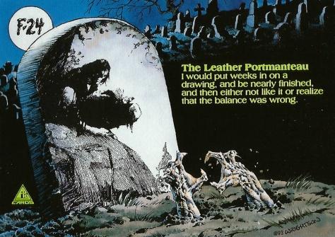 Bernie Wrightson's Frankenstein Trading Cards #24, back