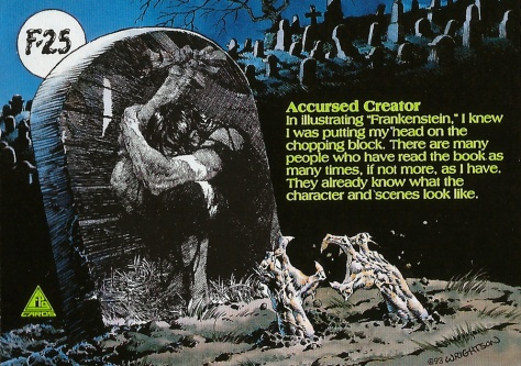 Bernie Wrightson's Frankenstein Trading Cards #25, back