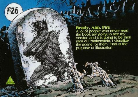 Bernie Wrightson's Frankenstein Trading Cards #26, back