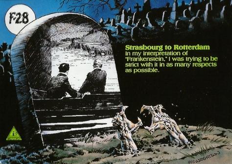 Bernie Wrightson's Frankenstein Trading Cards #28, back
