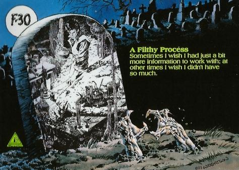 Bernie Wrightson's Frankenstein Trading Cards #30, back