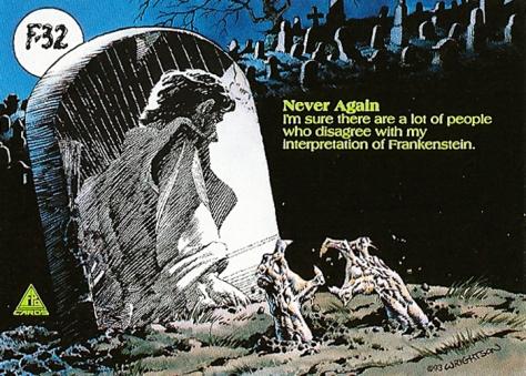 Bernie Wrightson's Frankenstein Trading Cards #F-32, back