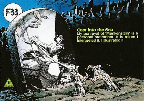 Bernie Wrightson's Frankenstein Trading Cards #F-33, back