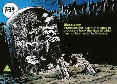 Bernie Wrightson's Frankenstein Trading Cards #F-34, back