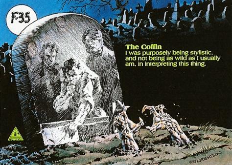 Bernie Wrightson's Frankenstein Trading Cards #F-35, back
