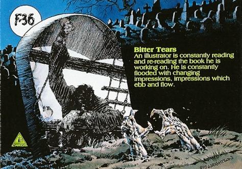 Bernie Wrightson's Frankenstein Trading Cards #F-36, back