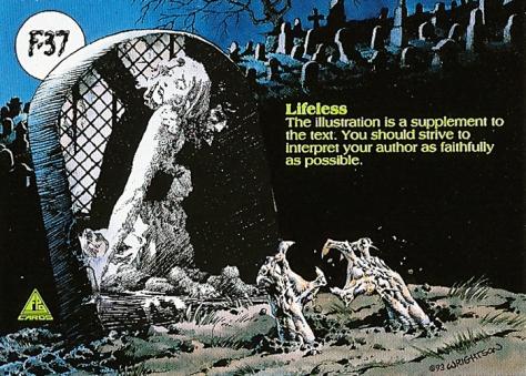 Bernie Wrightson's Frankenstein Trading Cards #F-37, back