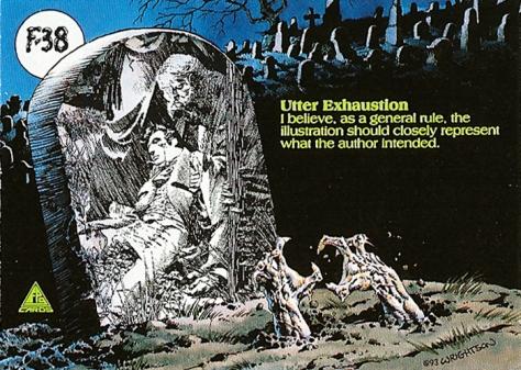 Bernie Wrightson's Frankenstein Trading Cards #F-38, back