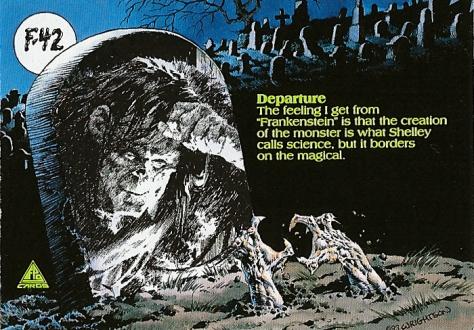 Bernie Wrightson's Frankenstein Trading Cards #F-42, back