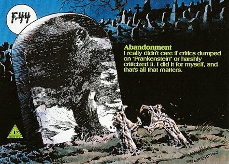 Bernie Wrightson's Frankenstein Trading Cards #F-44, back