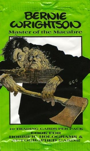 Bernie Wrightson's Frankenstein Trading Cards wrapper