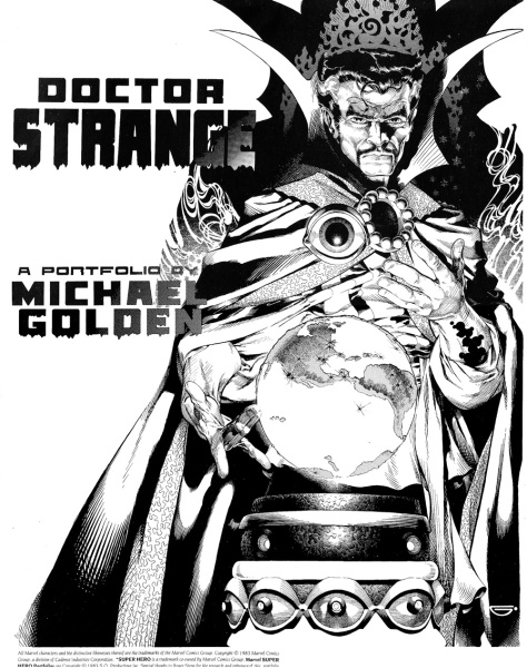 Michael Golden Doctor Strange Portfolio, cover
