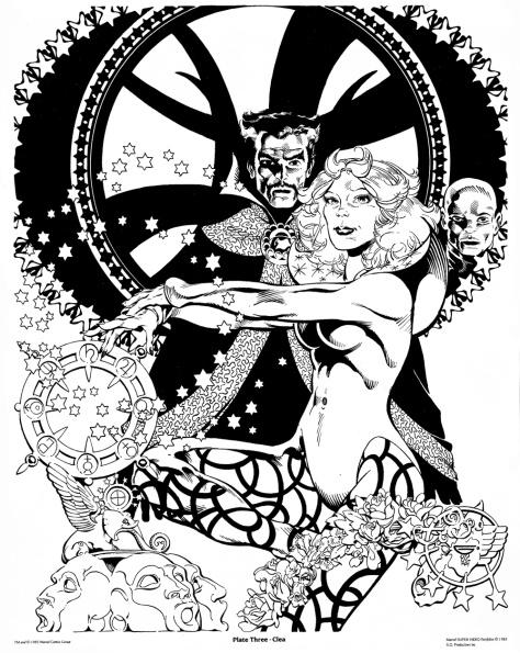 Michael Golden Doctor Strange Portfolio, Plate 3