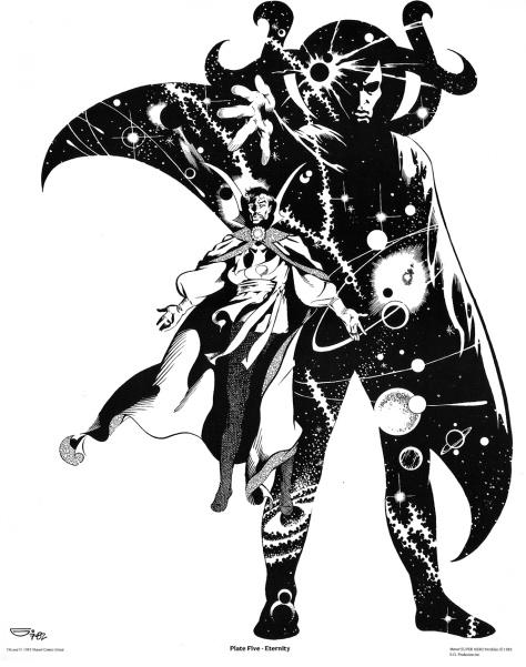Michael Golden Doctor Strange Portfolio, Plate 5