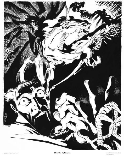 Michael Golden Doctor Strange Portfolio, Plate 6