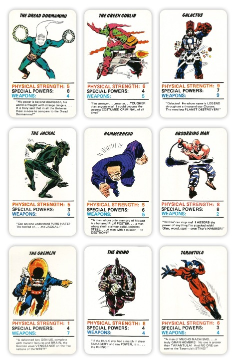 Marvel Superheroes Top Trumps