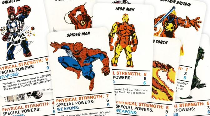 Marvel Superheroes Top Trumps Card Game (1977)