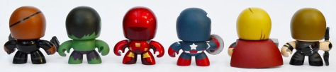 The Avengers Mini Muggs, backs