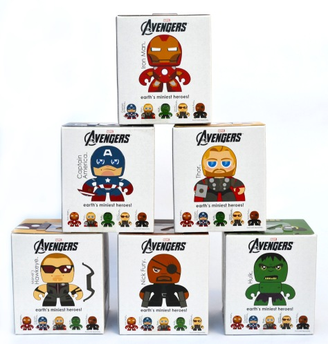 The Avengers Mini Muggs, back of the boxes