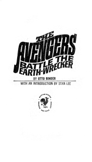 The Avengers Battle The Earth-Wrecker, title page
