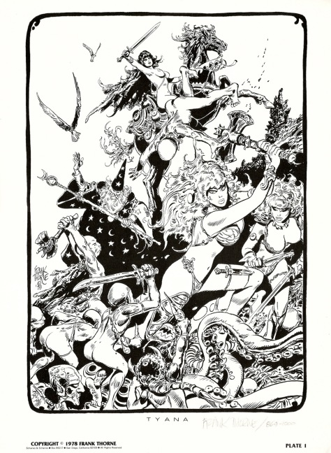 Frank Thorne's Wizards and Warrior Women Portfolio plate 1
