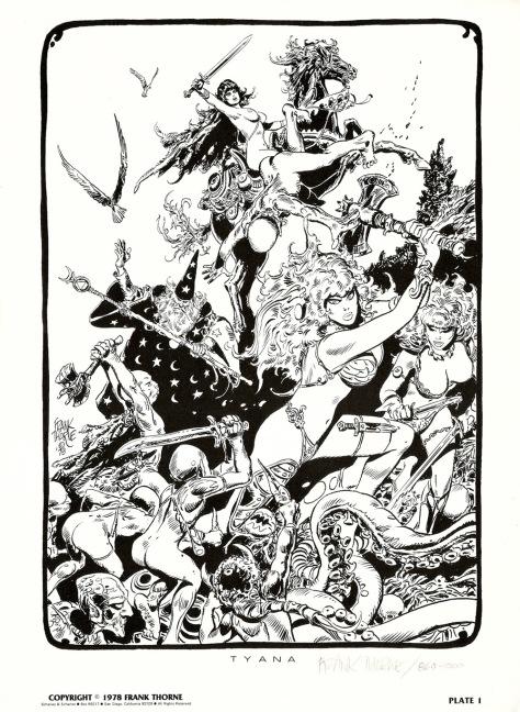 Frank Thorne's Wizards and Warrior Women Portfolio plate 1
