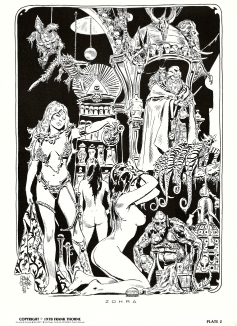 Frank Thorne's Wizards and Warrior Women Portfolio plate 2