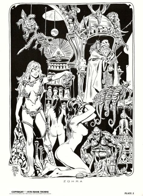 Frank Thorne's Wizards and Warrior Women Portfolio plate 2