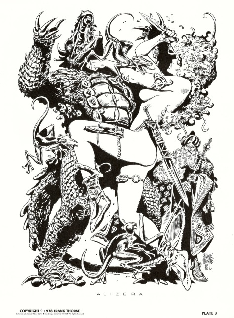 Frank Thorne's Wizards and Warrior Women Portfolio plate 3
