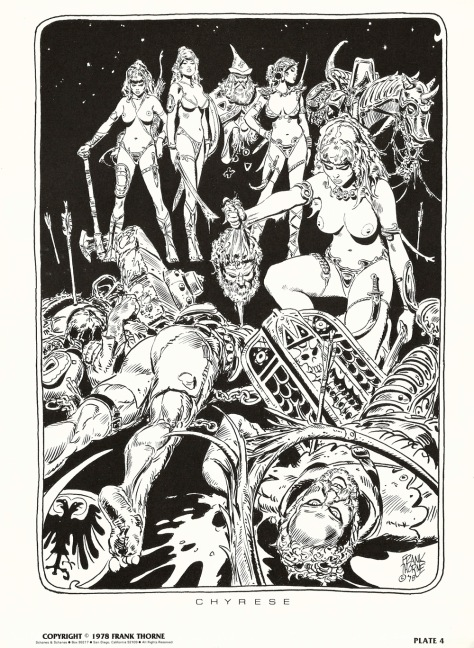 Frank Thorne's Wizards and Warrior Women Portfolio plate 4